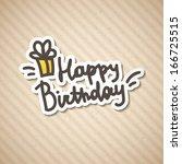 happy birthday  vector... | Shutterstock .eps vector #166725515