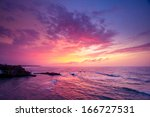 indian ocean on sunset. sri... | Shutterstock . vector #166727531