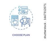 choose plan blue concept icon....   Shutterstock .eps vector #1667312071