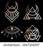 art deco  mythology  egyptian... | Shutterstock .eps vector #1667326597