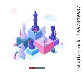 trendy flat illustration.... | Shutterstock .eps vector #1667349637