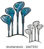 Golf Sticks. Vector Illustration