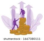 a businessman extends a helping ... | Shutterstock .eps vector #1667380111