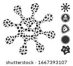 dotted mosaic based on evil... | Shutterstock .eps vector #1667393107