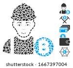 dot mosaic based on bitcoin... | Shutterstock .eps vector #1667397004