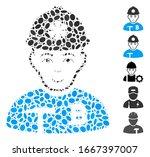 dot mosaic based on bitcoin... | Shutterstock .eps vector #1667397007
