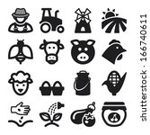 set of black flat icons about...   Shutterstock .eps vector #166740611