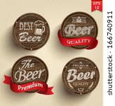 retro set styled label of beer. ... | Shutterstock .eps vector #166740911