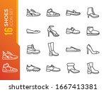 shoe   minimal thin line web...   Shutterstock .eps vector #1667413381