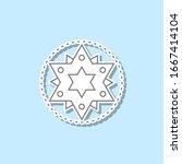 star sticker icon. simple thin...