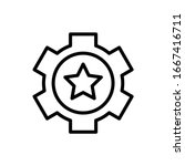 gear  star icon. simple line ...