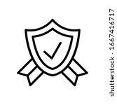 shield  check mark  ribbon icon....