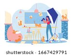 professional pets photography... | Shutterstock .eps vector #1667429791