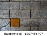 cracked vintage ceramic tile... | Shutterstock . vector #1667456407
