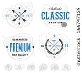 vector vintage badge and label... | Shutterstock .eps vector #166747139
