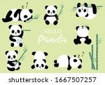 pastel animal set with panda... | Shutterstock .eps vector #1667507257