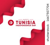 tunisia independence day vector ... | Shutterstock .eps vector #1667507704