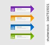 arrow design elements with 4... | Shutterstock .eps vector #1667515021
