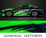 car decal design vector.... | Shutterstock .eps vector #1667518024