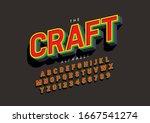 vector of stylized modern font... | Shutterstock .eps vector #1667541274