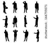 silhouettes of businesspeople | Shutterstock . vector #166755071