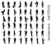 silhouettes of businesspeople | Shutterstock . vector #166755101