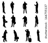 silhouettes of businesspeople | Shutterstock . vector #166755137