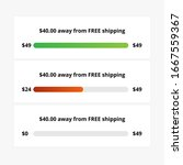free shipping e commerce bar ui ...