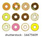 donuts v01 | Shutterstock .eps vector #16675609