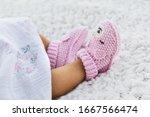 Newborn Baby Girl Wearing...