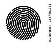 fingerprint sign icon. digital... | Shutterstock .eps vector #1667581351