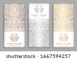 silver and gold vintage set of...   Shutterstock .eps vector #1667594257