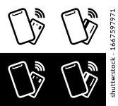 contactless  wireless payment... | Shutterstock .eps vector #1667597971