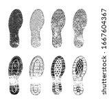 grunge human shoe print  shoe...   Shutterstock .eps vector #1667604367
