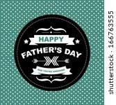 poster happy father's day... | Shutterstock .eps vector #166763555