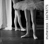 Ballerinas On The Backstage