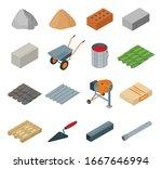 construction material isometric ... | Shutterstock .eps vector #1667646994