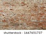 Old Brick Wall. Brickwork From...
