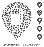 dotted mosaic based on fuel... | Shutterstock .eps vector #1667668444