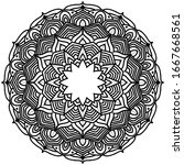 mandalas for coloring book.... | Shutterstock .eps vector #1667668561