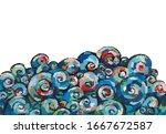 impressionism art. hand drawn... | Shutterstock . vector #1667672587