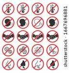 set of prohibiting icons. no... | Shutterstock .eps vector #1667696881