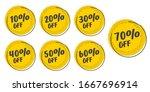 set of grunge sticker with 10 ... | Shutterstock .eps vector #1667696914