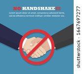 no handshake concept in a flat... | Shutterstock .eps vector #1667697277