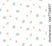 floral seamless pattern with... | Shutterstock .eps vector #1667726857