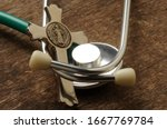 Closeup On Stethoscope With...