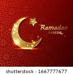 ramadan kareem crescent stock... | Shutterstock .eps vector #1667777677