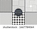 set of 6 black and white... | Shutterstock .eps vector #1667784064
