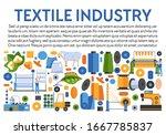 textile industry banner. cotton ...   Shutterstock .eps vector #1667785837