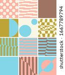 modern artwork of abstract... | Shutterstock .eps vector #1667789794